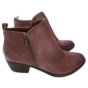 Lucky Brand Distressed Brown Basel Leather Bootie